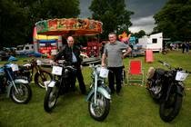 Moffat Classic Car Rally, Scotland  motorbikes