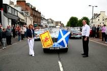 Start of Moffat Classic Car Rally, Scotland